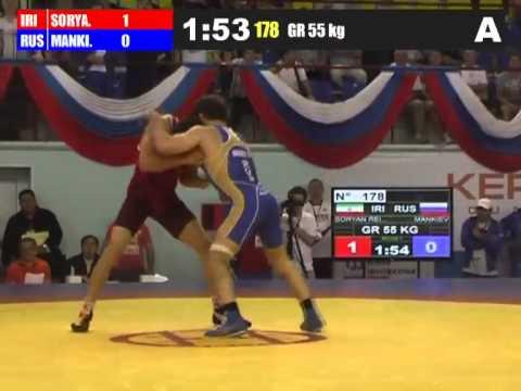 Hamid Sourian (Iran) vs Nazir Mankiev (Russia) 55kg 2012 Greco Roman World Cup