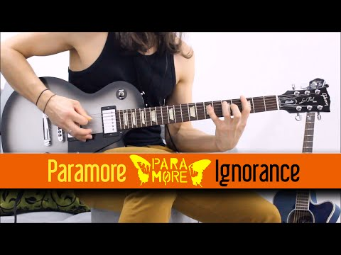 Ignorance - Paramore   Rhythm Guitar Cover - YT