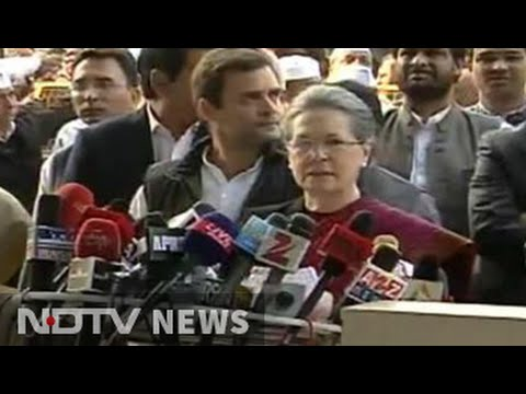 National Herald case: Sonia, Rahul address media after getting bail