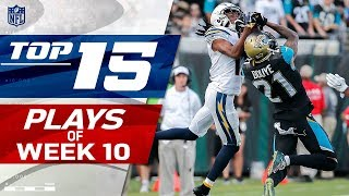 Top 15 Plays of Week 10 | NFL Highlights