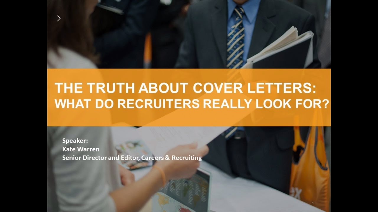 The truth about cover letters: What do recruiters really ...