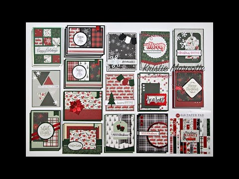 Carta Bella Christmas Market - 31 Cards From One 6x6 Paper Pad