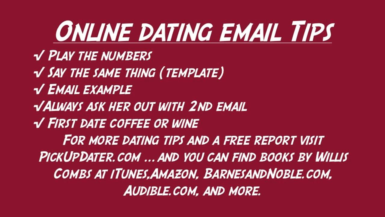 What to say in internet dating email