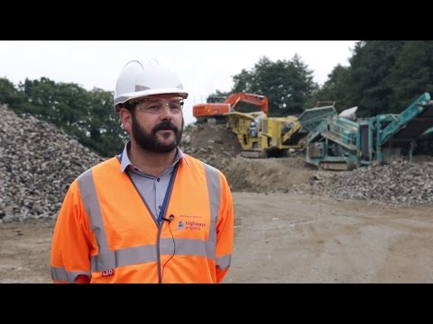 What happens to construction waste?