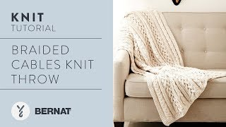 How Knit Blanket Ided Cables Knit Throw