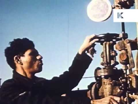 1950s Iran Oil Fields, Oil Refinery