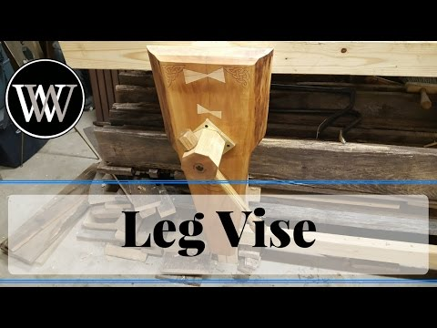 How to Make a Leg Vise With A Wooden Screw All Hand Tool Woodworking Bench
