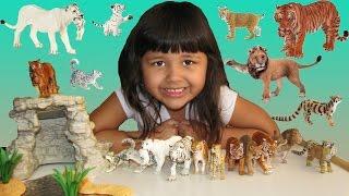 Happy Cute Animals Wildlife ZOO Big Cats Lion Tiger Cheetah Puma Leopard Toys