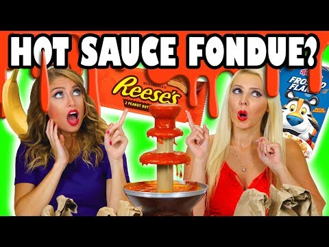 Hot Sauce Fondue Challenge with Sriracha with Weird Ingredients. Totally TV