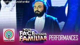"Your Face Sounds Familiar: Nyoy Volante as Luciano Pavarotti -  ""La donna è mobile"""