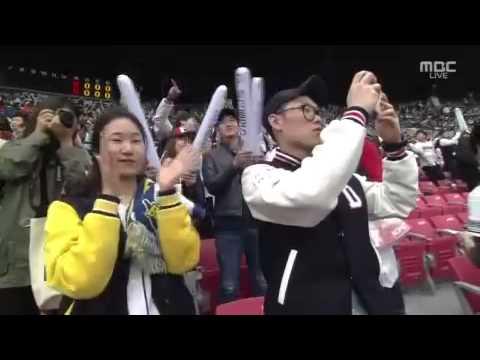 20140329 이상화 시구 (Lee Sang-hwa Ceremonial Pitch)