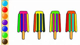 Ice Cream Coloring Pages | Ice Cream Drawing | Drawing WhiteVideos | Painting Ice Cream for Kids