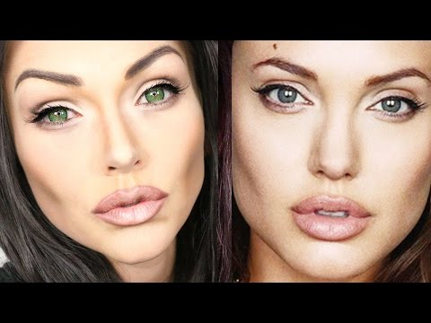Angelina Jolie Makeup Transformation Tutorial