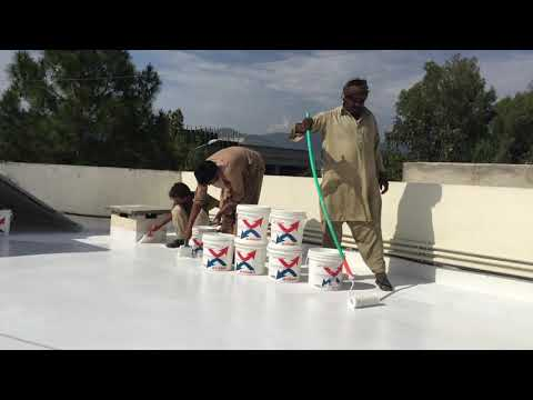 """Pakistan's First Water Proofing & Thermal Heat Proof Coating """"isothane"""" Www.samz.com.pk, 03219555117"""