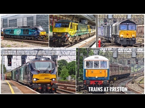 Freight Trains At Preston - Featuring Class 66, 68, 86, 88 and 90  - 20th May