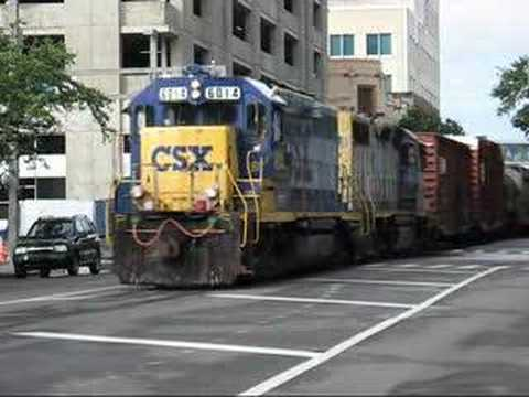 Csx Y225 Street Running In Downtown Tampa Fl 6 22 08 Youtube