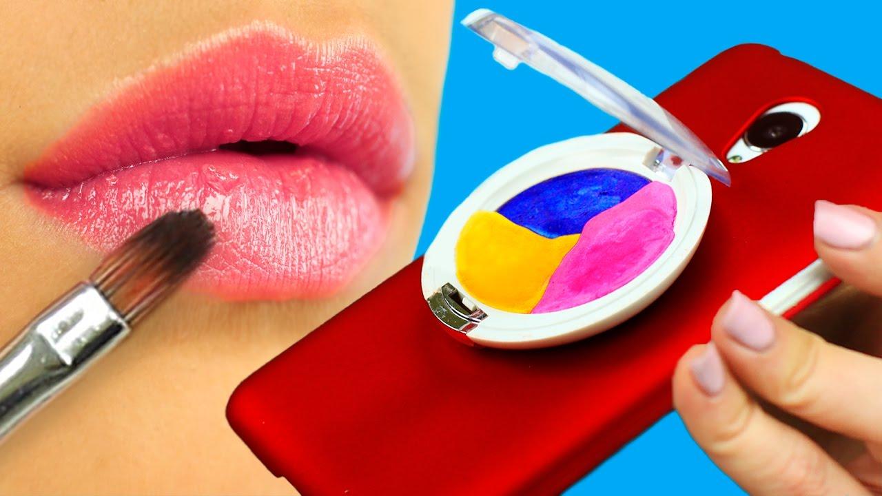 Diy phone case designs 7 makeup ideas youtube for Case design