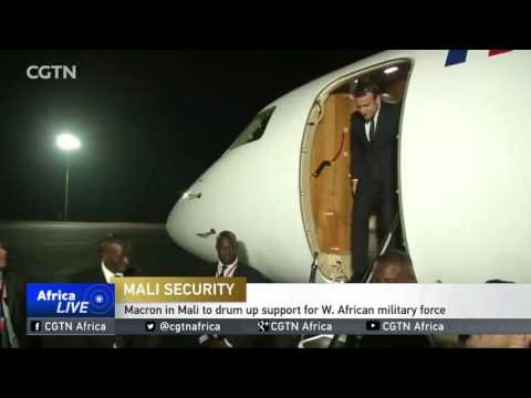 Macron in Mali to drum up support for W. African military force