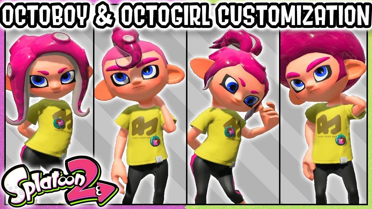 All Octoling Girl Octoling Boy Customization Options Splatoon 2