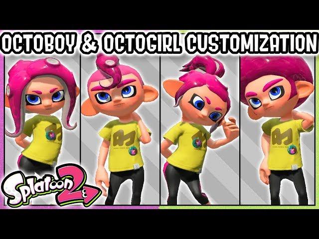 ALL OCTOLING GIRL/OCTOLING BOY CUSTOMIZATION OPTIONS! Splatoon 2 Nintendo Switch - DarkLightBros