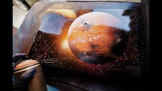 Crater planet SPRAY PAINT ART by Skech