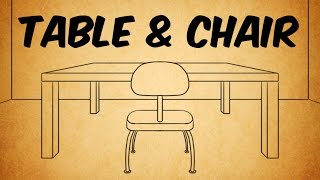 How to Draw a Table and Chair in Perspective