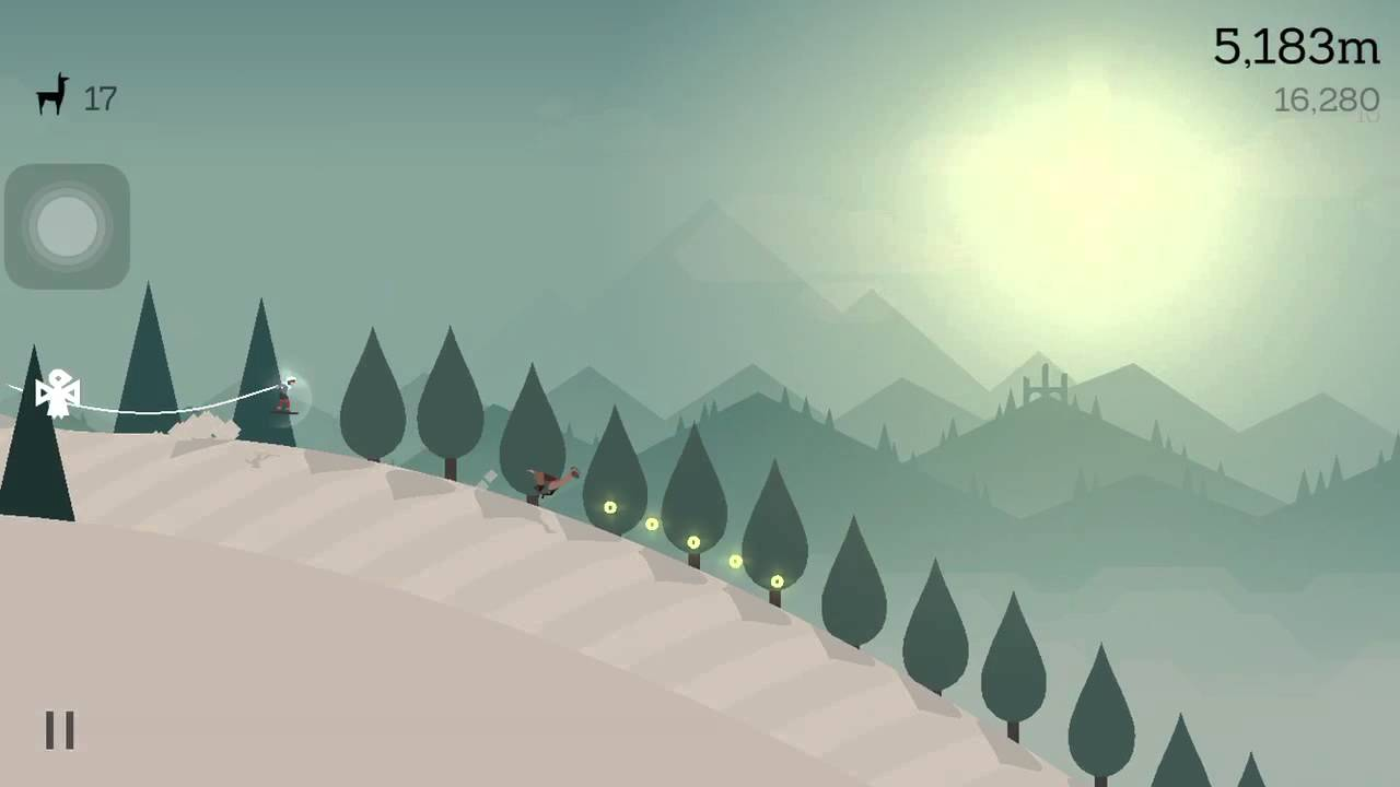 Alto's Adventure Fly through an archway with the wingsuit