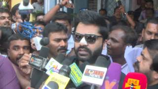 Simbu appears at a police station in Coimbatore over beep song controversy