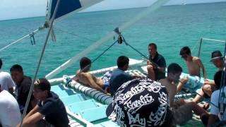 Catamaran Ride WAIKIKI /DIAMOND HEAD View - Archbishop Riordan in Hawaii