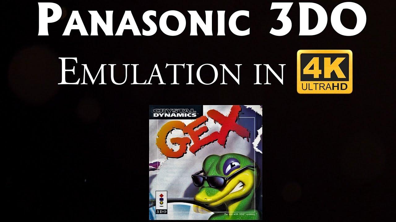 Panasonic 3DO Emulation in 4K 60fps   Gex - Vertexgaming