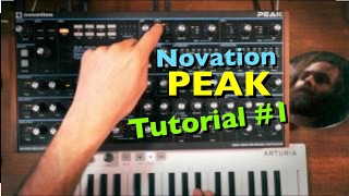 Novation Peak Sound Design Tutorial #1 (in 4k)