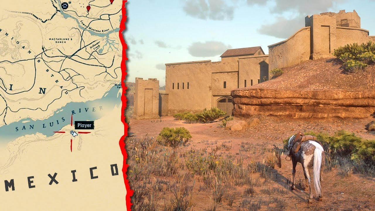 Red Dead Redemption Us Map.How To Get To Mexico In Red Dead Redemption 2 Rdr2 Secret Map