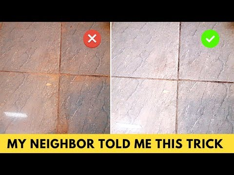 How to clean grout on bathroom tile floors using hydrogen peroxide and baking soda