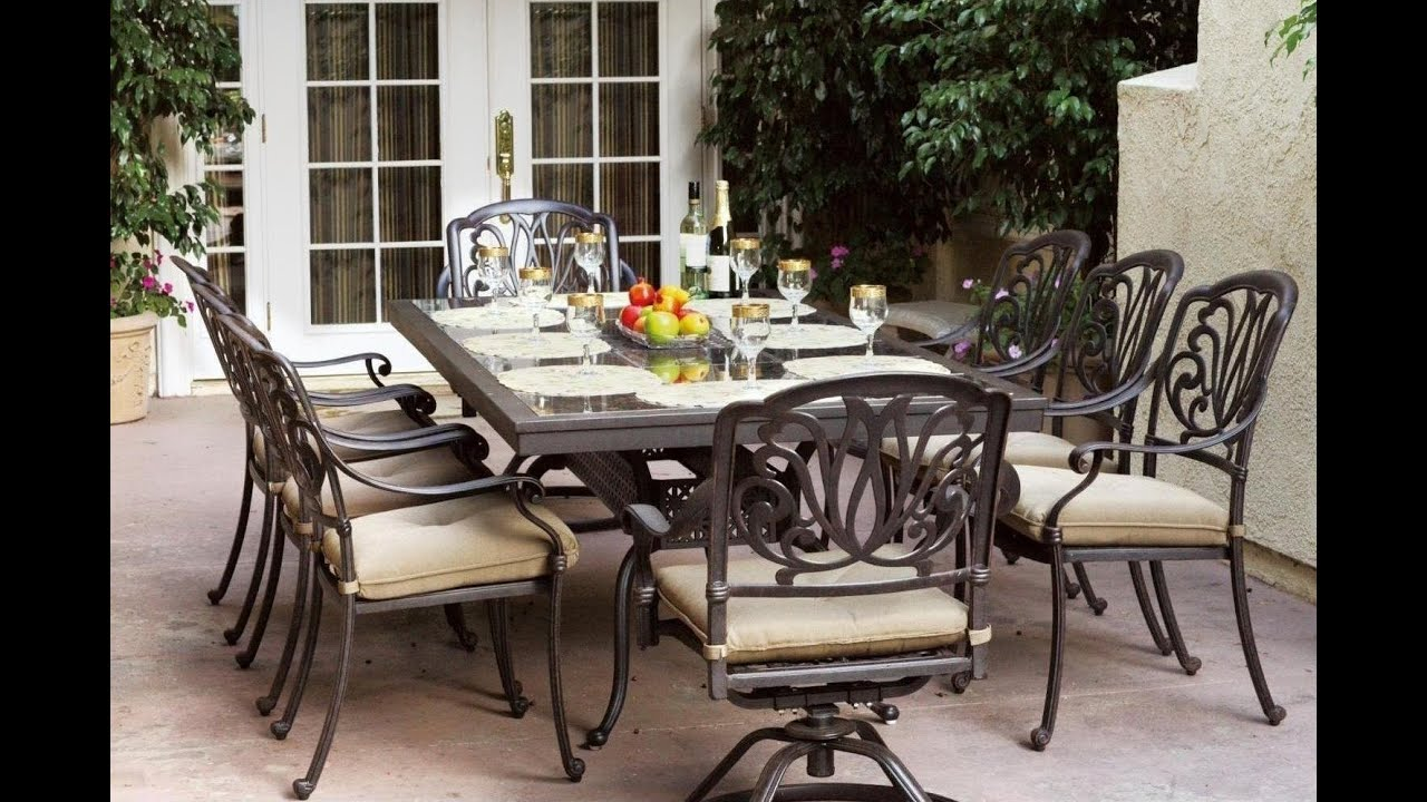 outdoor furniture ideas 10 great patio furniture dinning sets youtube