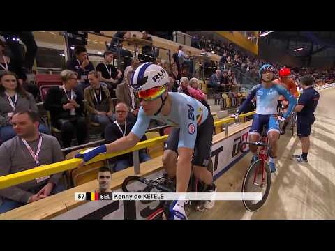 Men's Points Race - 2018 UCI Track Cycling World Championships (no sound)