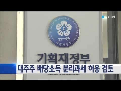 정부, 대주주 배당소득 분리과세 허용 검토 / YTN