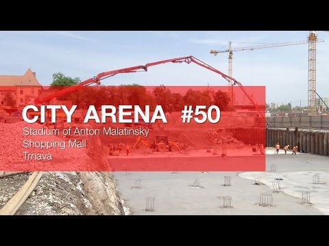CITY ARENA - (50) Betónovanie základov pod Severnou tribúnou - (Pouring concrete foundations...)