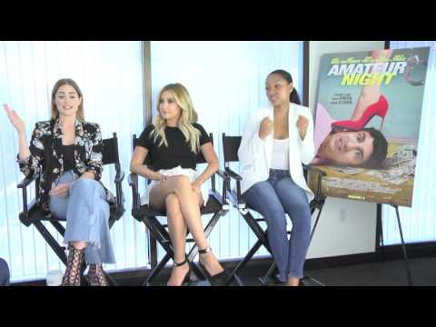 Amateur Night: Exclusive Cast Interview w/ Ashley Tisdale, Janet Montgomery & Bria Murphy