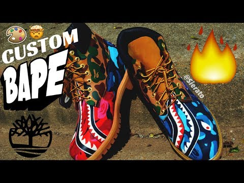 Full Custom | Multi-Camo Colored Bape Timberlands by Sierato