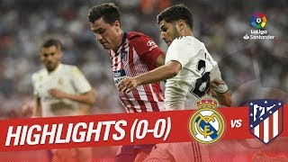 Resumen de Real Madrid vs Atlético de Madrid (0-0)