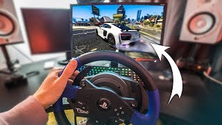 GTA 5 WITH A STEERING WHEEL! - (GTA 5 Drifting & Stunts)