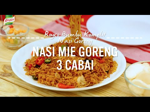 Resep Royco - Nasi Mie Goreng 3 Cabai