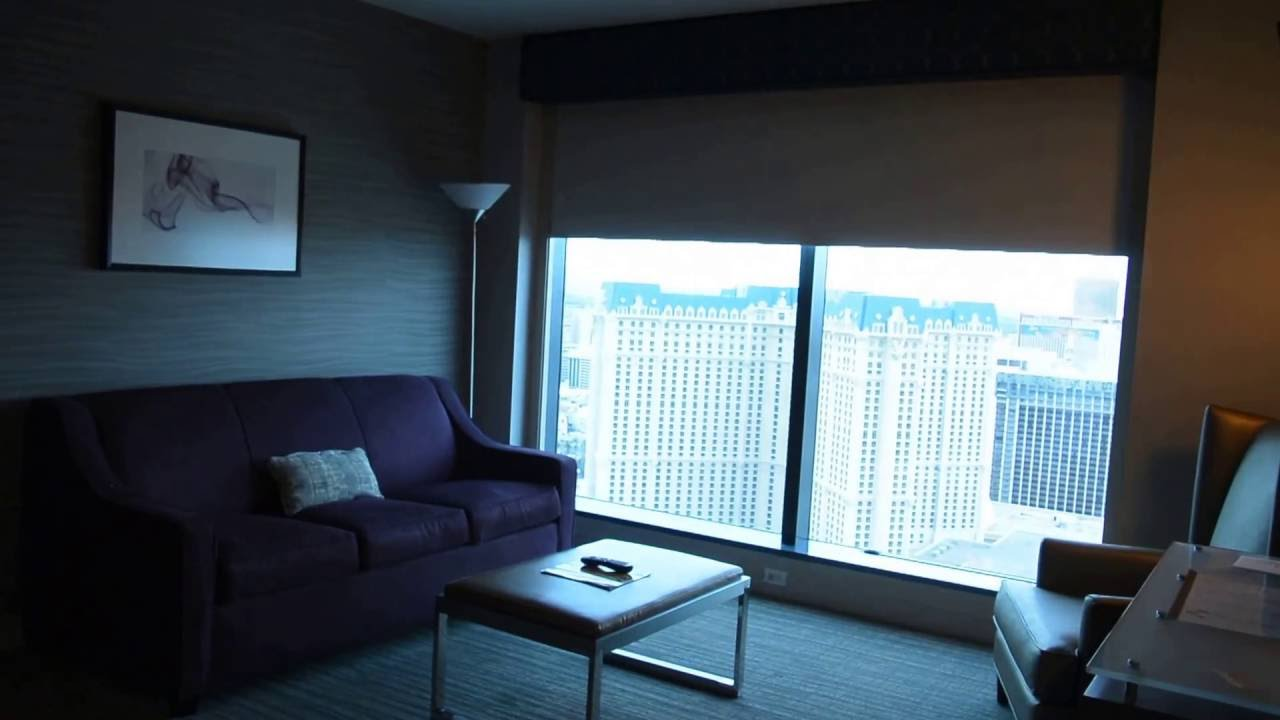 Elara a hilton grand vacations club junior suite youtube for Elara las vegas 4 bedroom suite