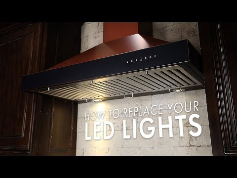 How to replace the LED lights on your new ZLINE Range Hood
