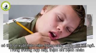Trẻ em bị Chảy Nước Miếng Chảy Dãi khi ngủ nhu the nao