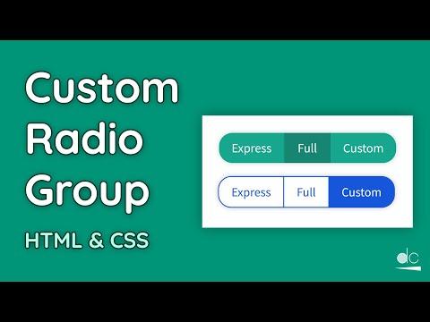 Create Styled Radio Groups - CSS Tutorial