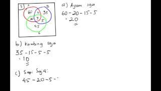 Kumpulan Contoh Soal: Contoh Soal Himpunan Diagram Venn 3