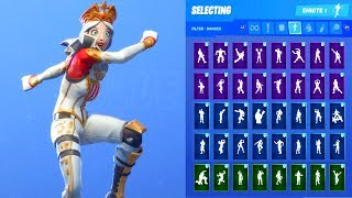 CRACKABELLA SKIN SHOWCASE WITH ALL FORTNITE DANCES & EMOTES