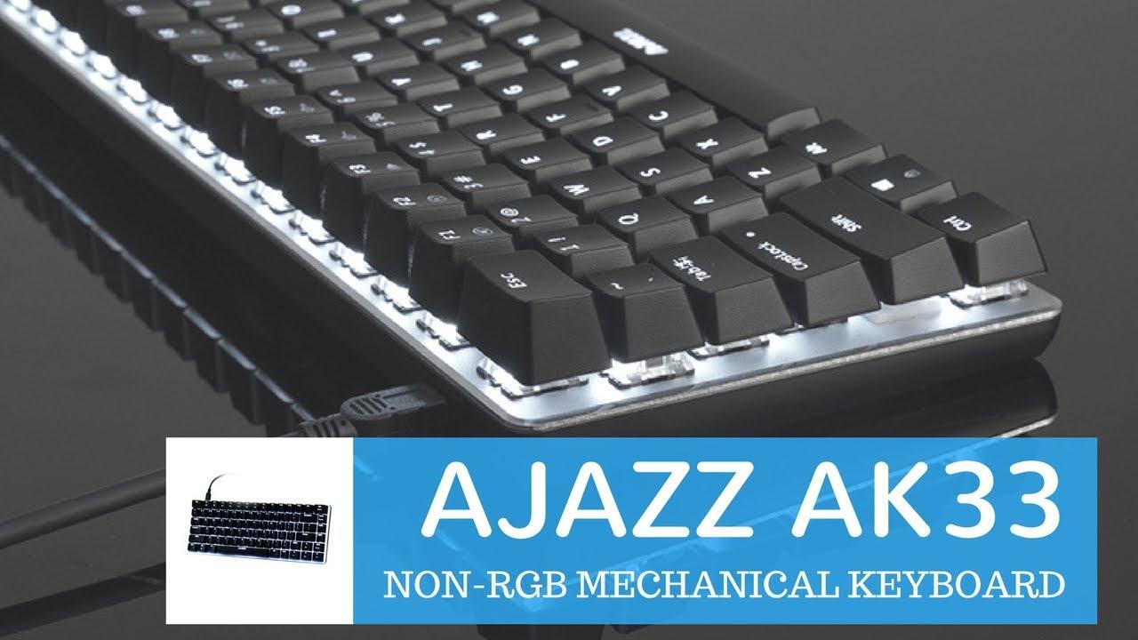 771cfbda651 Ajazz Ak33 Mechanical Gaming keyboard Review & Unboxing ✓ - YouTube