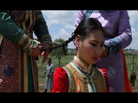 Playing a Mongolian bride